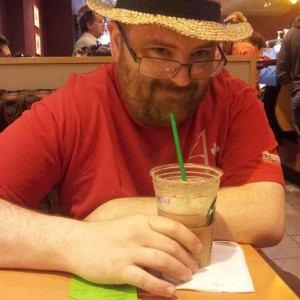 TOny Fyler with a frappucino