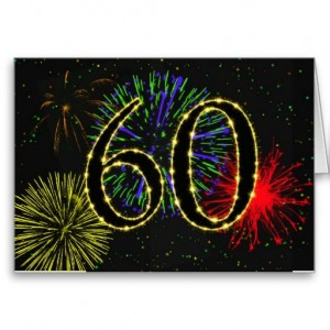 The number 60 in fireworks
