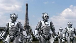 The Cybermen marching through Paris.