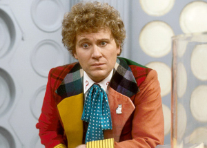 Colin Baker in the Sixth Doctor's costume.