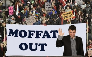 Photoshopped mass demonstration calling for Moffat to go.