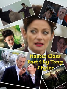 A collage of images of Michelle Gomez as the Mistress.