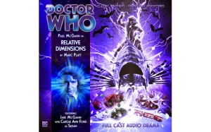 The cover of Relative Dimensions, an audio story by Big Finish