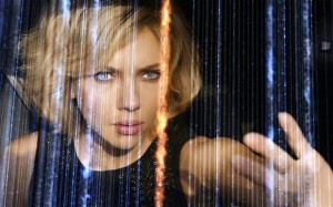Lucy, played by Scarlett Johansson.