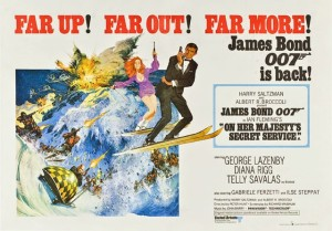 The poster for On Her Majesty's Secret Service