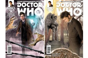 Covers of two issues of Titan Comics
