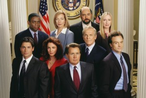 The cast of the West Wing Pilot