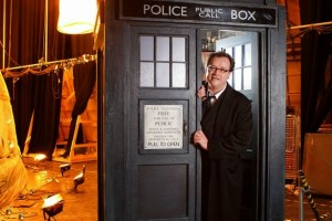 Russell T Davies in the Tardis