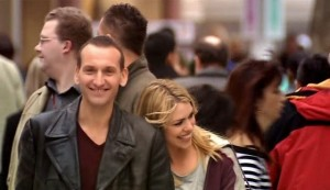 Christopher Ecclestone and Billie PIper as the Ninth Doctor and Rose