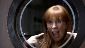 Catherine Tate as Donna Noble in Partners In Crime.