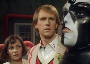 A scene from The Caves of Androzani.
